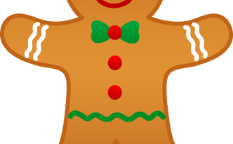 Christmas Gingerbread 2 Clip Art Graphics By Resale Clipart Pictures ...